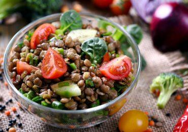 ¡Una ensalada muy especial!: Lentejas y verduras