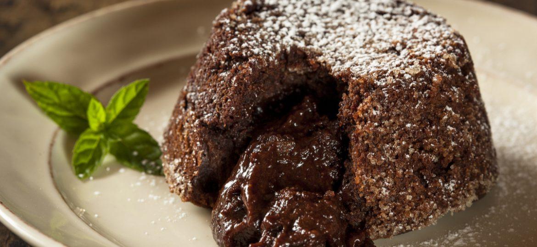 ¡Volcán de chocolate!