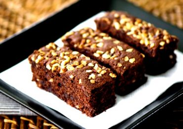 Postre dietético: Brownie de chocolate y almendras